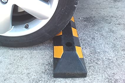 RWS-4 Soltero tope de la rueda de goma para los estacionamientos y garajes 55x15x10cm (paquete de 1): Amazon.es: Industria, empresas y ciencia