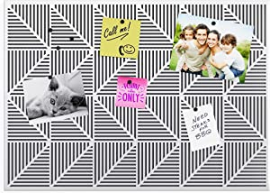 Umbra Trigon, Wall Mounted Bulletin Board, Magnetic Board, and Message Board, White