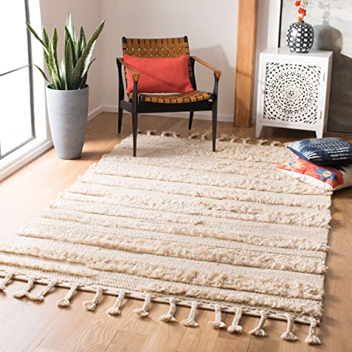 Safavieh Casablanca Shag Collection CSB450A Beige Area 4 x 6 Rug