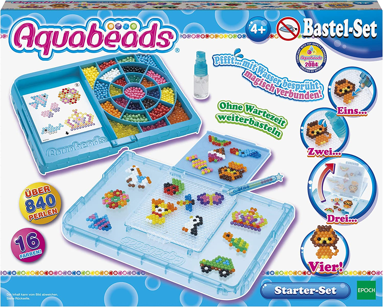EPOCH Traumwiesen GmbH Aquabeads - Set de Cuentas (840, para Principiantes), Color Azul: Amazon.es: Juguetes y juegos