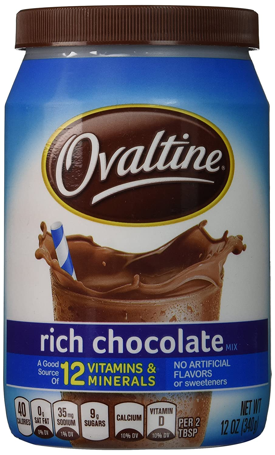 Ovaltine Rich Chocolate Mix, 12OZ