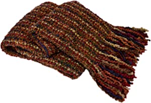 Kennebunk Home Stria Multi-Color Luxurious Woven Throw, Russet