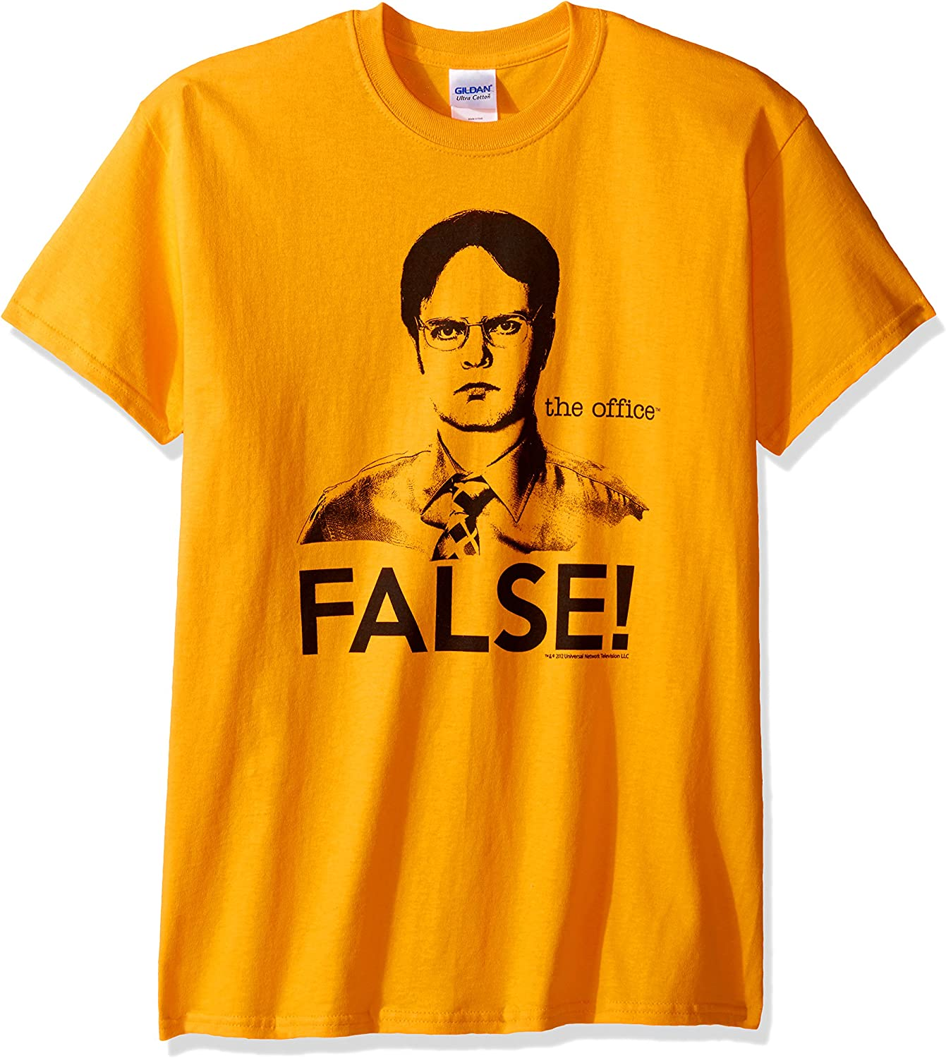 T-Line Mens The Office Tv Series Dwight False Graphic T-Shirt T-Shirt