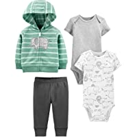 Simple Joys by Carter's Conjunto de 4 Piezas de Chaqueta, Body y pantalón Neutro Unisex bebé, Pack de 4