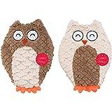 """Ethical Pets Soft Swirl Plush Owl Plush Dog Toy, 9.5"""""""