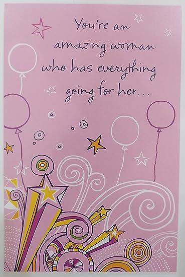 Amazon.com: Eres un Amazing Mujer – Feliz cumpleaños ...