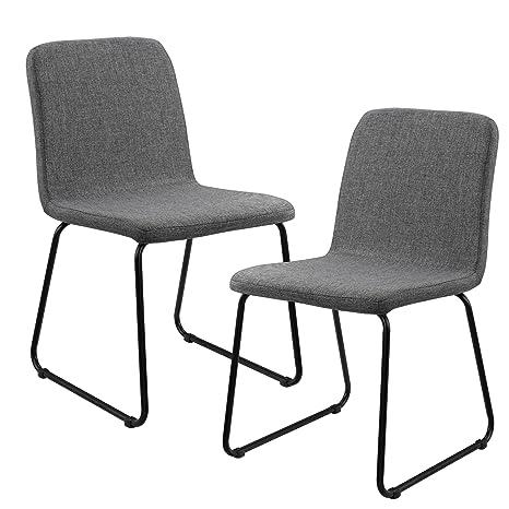 en.casa]®] Set de 2 sillas de Comedor de Elegante diseño - tapizado ...