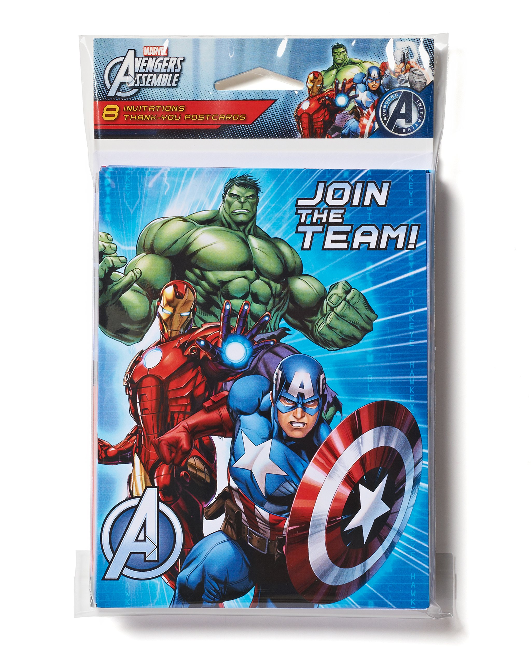 Marvel Avengers Invite and Thank You Combo, 8 Pack, Party Supplies by American Greetings (Image #2)