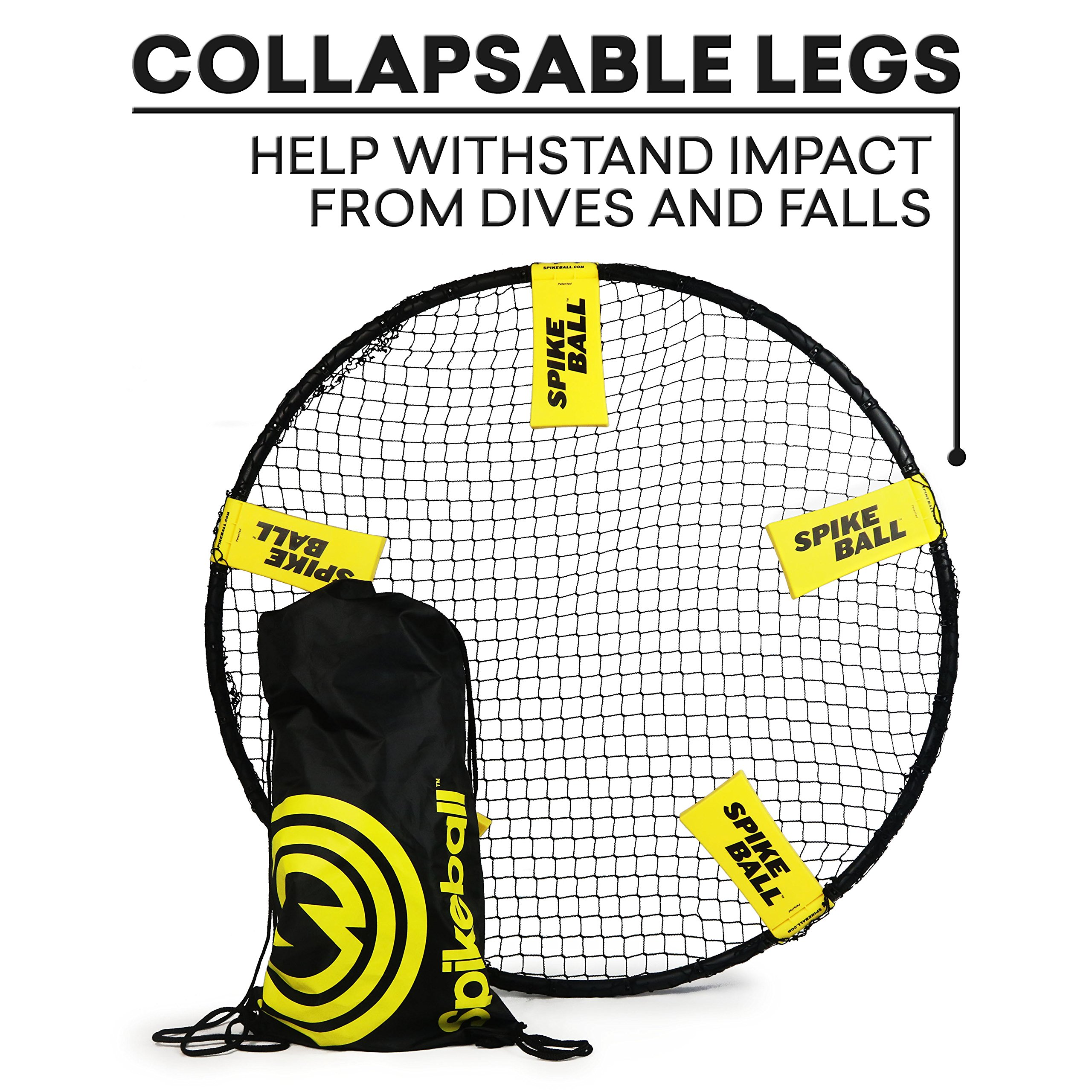 Spikeball 3 Ball Sports Game Set - Outdoor Indoor Gift for Teens, Family - Yard, Lawn, Beach, Tailgate - Includes Playing Net, 3 Balls, Drawstring Bag, Rule Book- As Seen on Shark Tank (3 Ball Set) by Spikeball (Image #4)