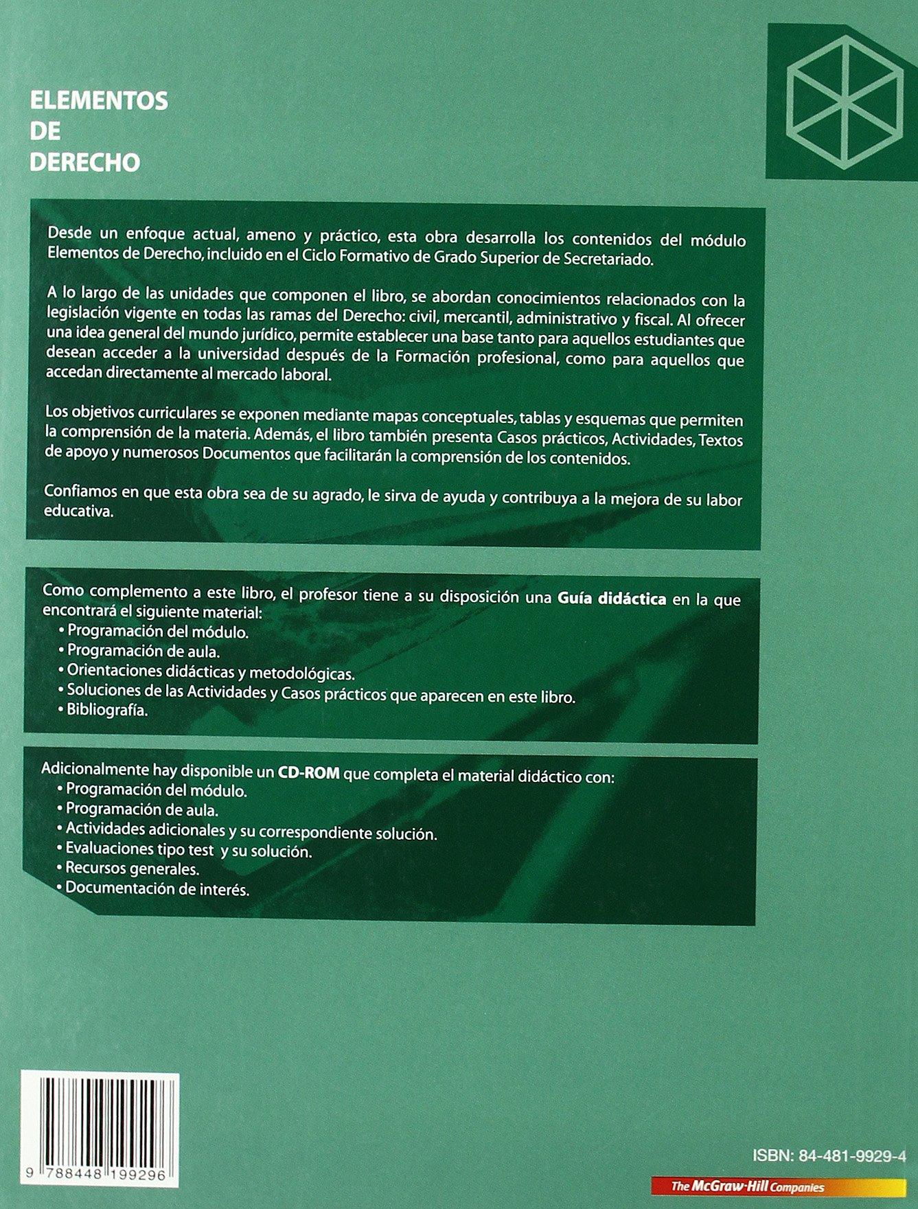 Elementos De Derecho Grado Superior Amazon Es Vicente Del