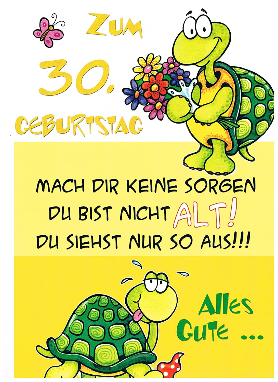 Geburtstagskarte XXL zum 30. Geburtstag, witzig + Umschlag: Amazon