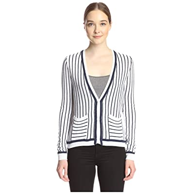 SHAE Women's Tipped Cardigan at Women's Clothing store