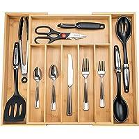 SMIRLY Kitchen Drawer Organizer - Utensil Tray Drawer Organizer, Silverware Tray for Drawer, Silverware Organizer Drawer…