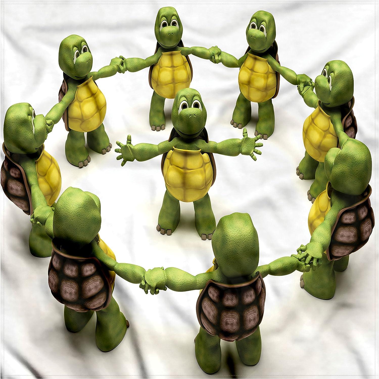 Amazon.com: Lunarable Reptile Bandana, Ninja Turtles Dancing ...
