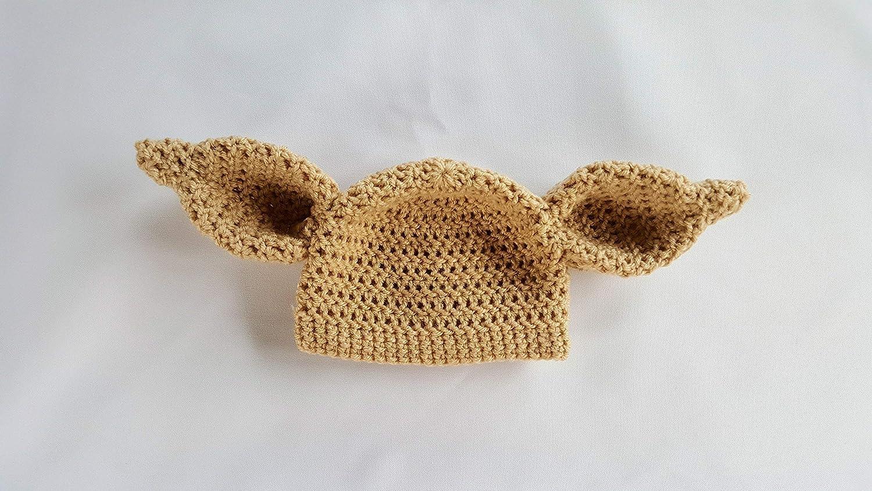 Amazon Crochet Newborn Dobby House Elf Hat Baby Photo Prop Yoda
