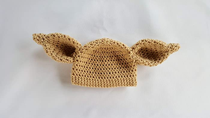 Image Unavailable. Image not available for. Color  Crochet newborn dobby  house elf hat ... ad37e705891