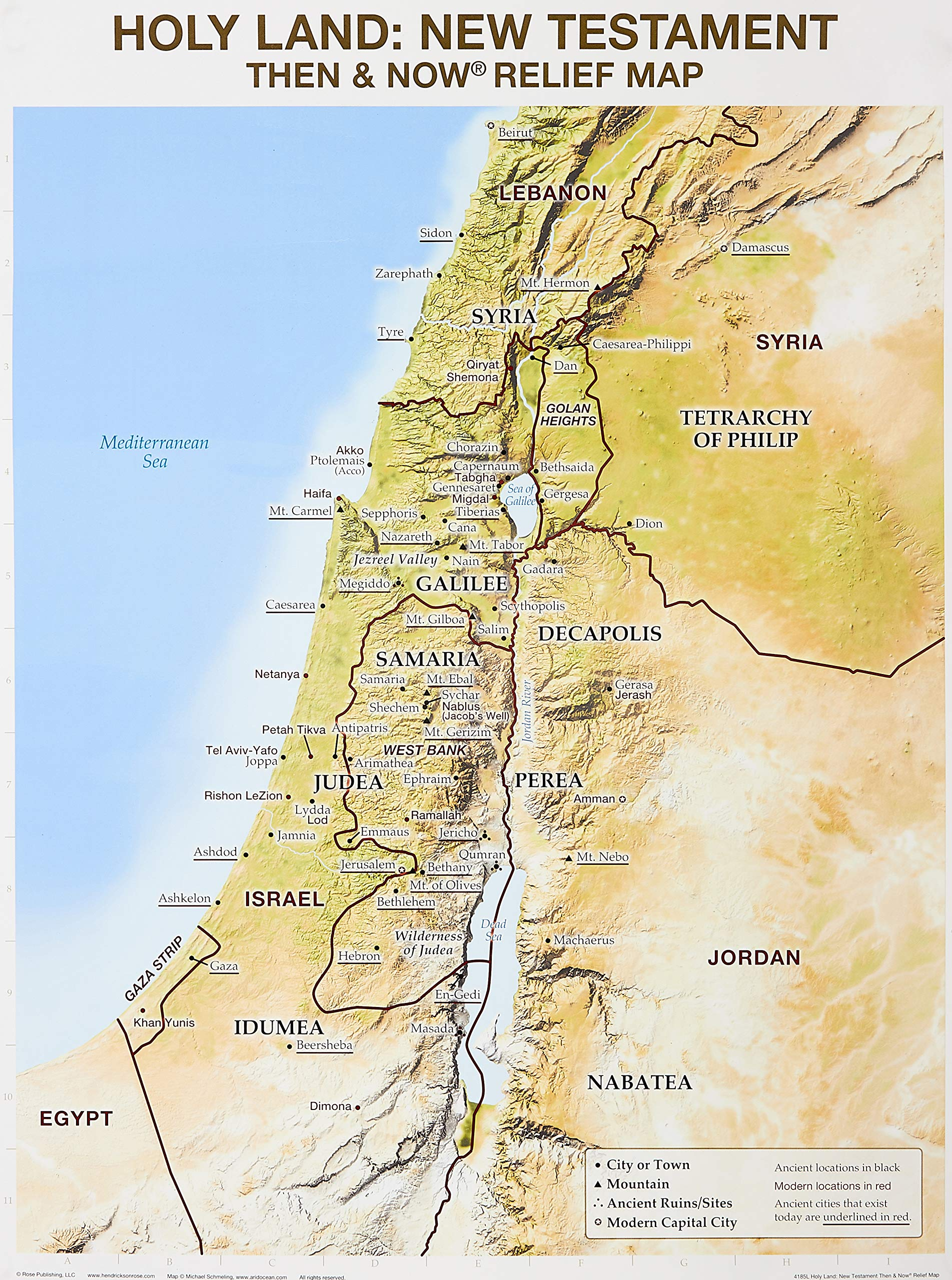 Wall Chart: Holy Land NT Relief Map: Rose Publishing ... on map of europe holy land, bible map holy land, printable map of holy land, map of holy land today, map of holy land during joshua, large map of holy land, map of jonah's time, map holy land israel, map of bethlehem, modern map of holy land, map holy land in jesus day, map of christian holy land, map of the holy land, map world holy land, map of holy land jesus, cities in the holy land, map of jewish holy land, model of jerusalem holy land, current map of holy land, biblical map holy land,