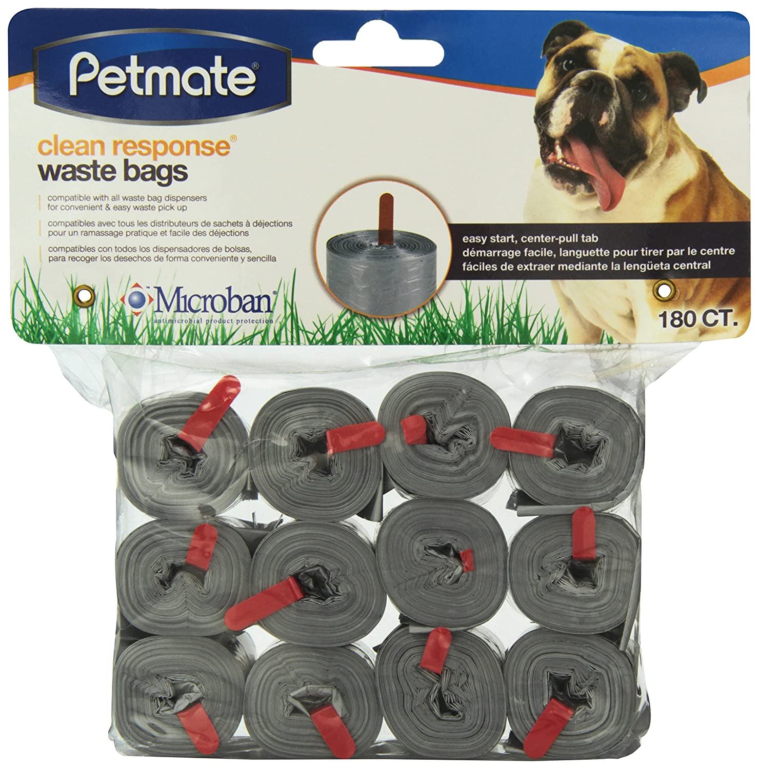 Amazon.com : Petmate 71097 90 Count Clean Response Pets Waste Bag Refills, Assorted (Black/Blue/Silver) : Pet Supplies