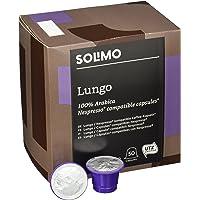 Marca Amazon- Solimo Cápsulas Lungo, compatibles con Nespresso- café certificado UTZ, 100 cápsulas (2 x 50)