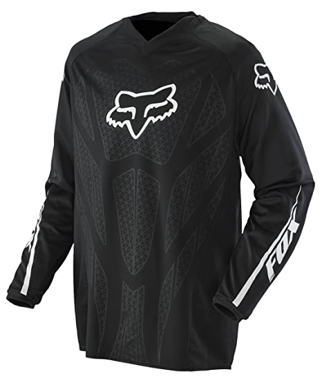 Image Unavailable. Image not available for. Color  Fox Racing Blackout Men s  Off-Road Dirt Bike Motorcycle Jersey - Black ... 2bda29bf7