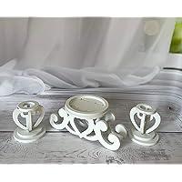 Unity Candle Holder-Unity Candle Stand-Unity Candle Holder Set-Pillar Candle Holder-Wedding Gift -Ceremony Decoration…