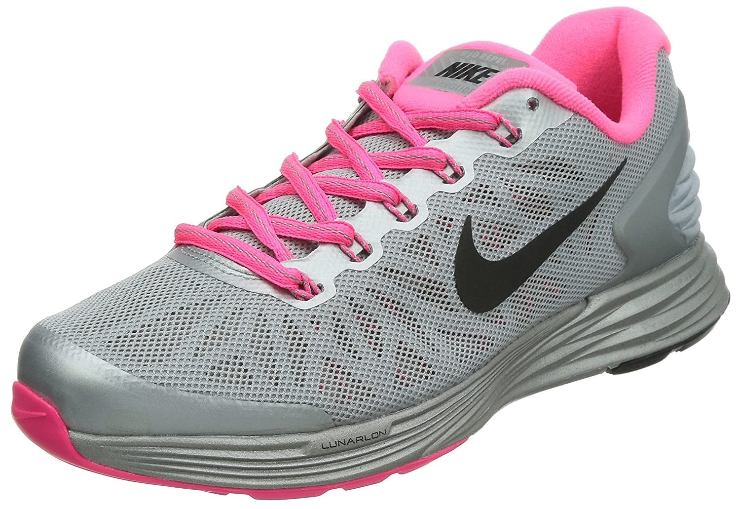 huge discount 722e6 598a2 Amazon.com  Nike Lunarglide 6 Flash (GS) Running Trainers 685714 Sneakers  Shoes (UK 5.5 us 6Y EU 38.5, Wolf Grey Black Hyper Pink Reflective Silver  001) ...