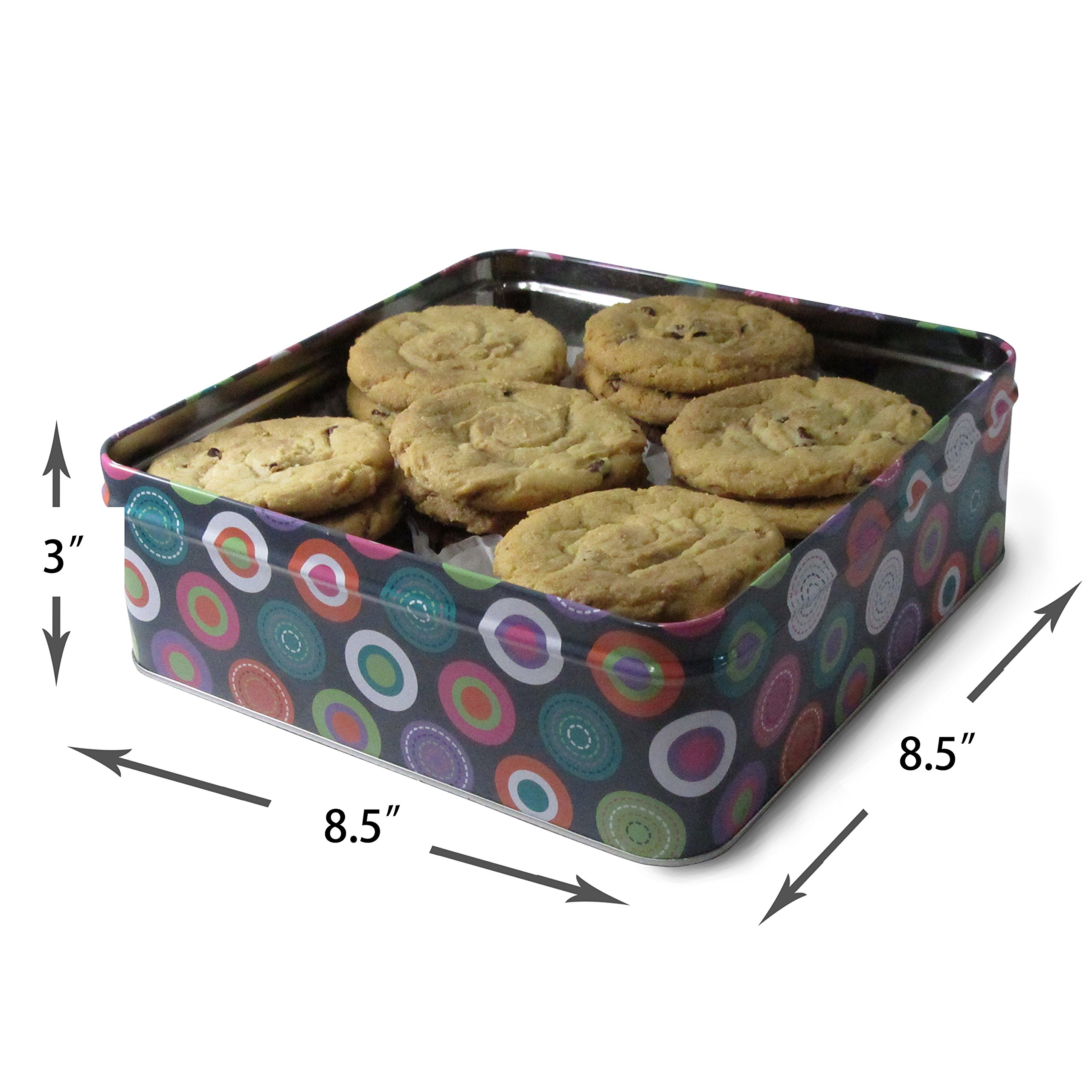 Fresh Baked Chocolate Chip Cookie Tins, Comes in Multiple Sizes | Gimmee Jimmy's Authentic Cookies-2 Pound Tin by Gimmee Jimmy's Cookies (Image #3)