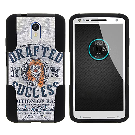 MINITURTLE Case Compatible w/Droid Turbo 2, Dual Layer Shell Strike Impact Stand Case