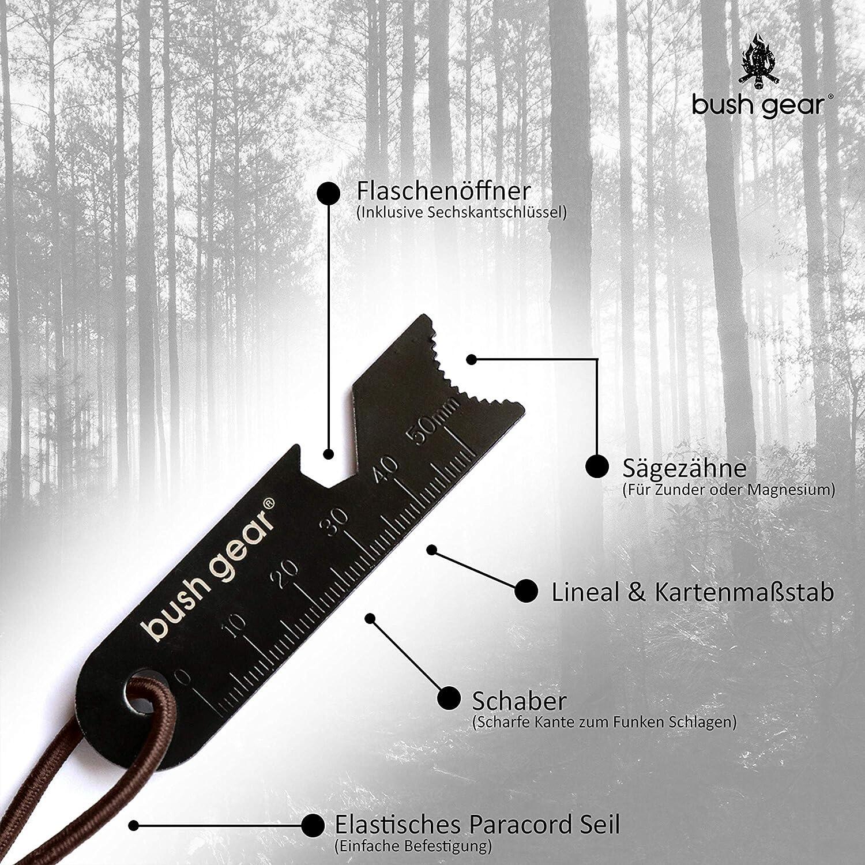 """Bushcraft Feuerstarter f/ür Outdoor Bush Gear Feuerstahl /""""Black Steels/"""" Survival XXL Magnesium Feuerstein XL Starker Funkenflug"""