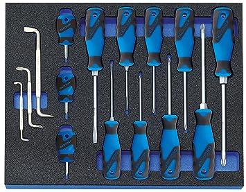 GEDORE 1500 CT2-7 Ring-Maulschl/üssel-Satz in Check-Tool-Modul 1 St/ück