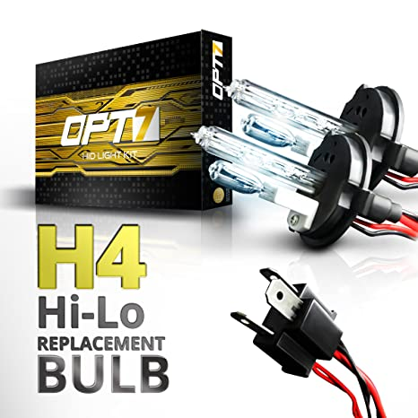 All Xenon Color Bulbs Relay Bundle H4 9003 Hi-Lo OPT7 55w HID Kit