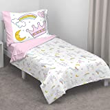 Carter's Whimsical Princess Tales 4 Piece Toddler Bed Set with Comforter, Fitted Bottom Sheet, Flat Top Sheet and…