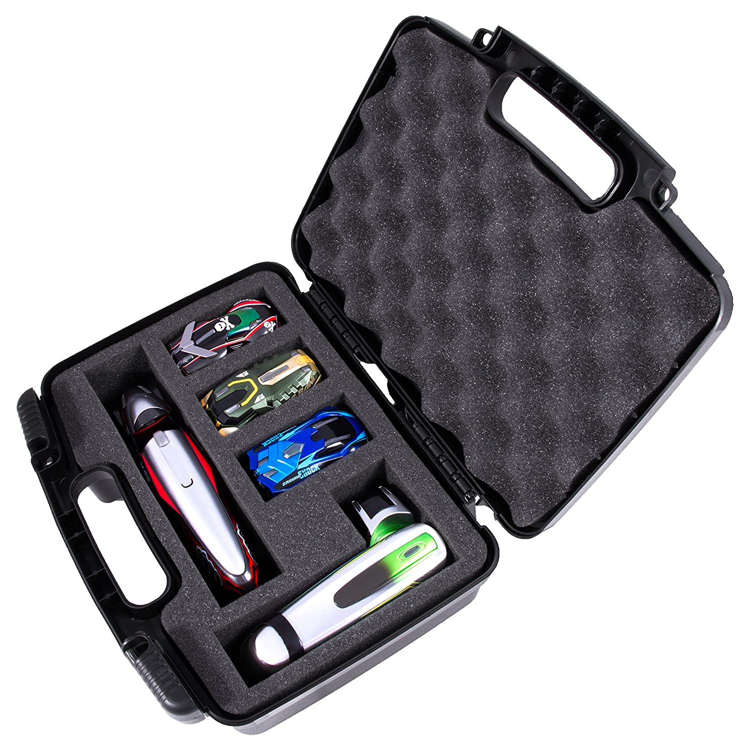GARAGE Box Case Designed For Anki Overdrive Expansion Cars and Supertruck Vehicles – Pre-Cut Protective Compartments Can Carry 7 Cars or 3 Cars With 2 Supertrucks
