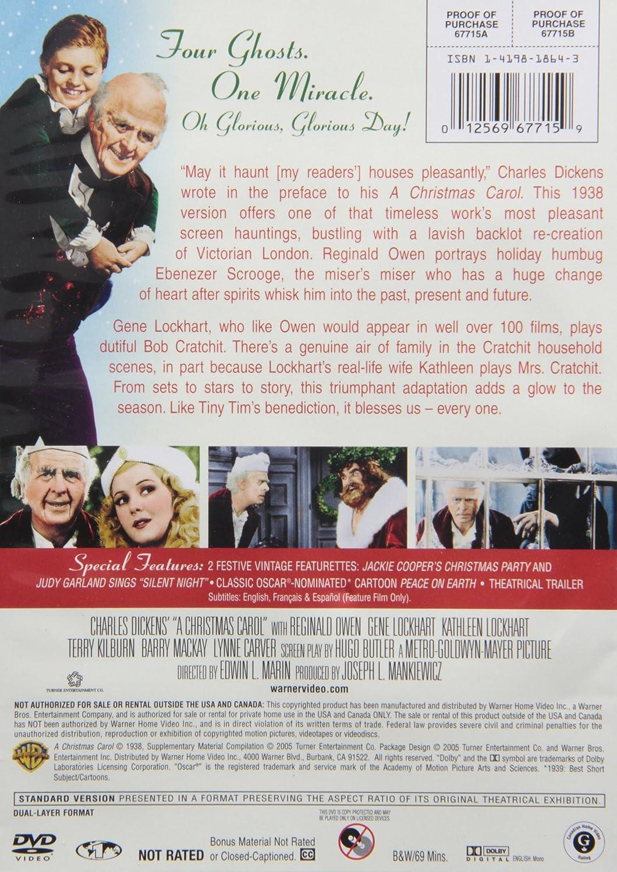 Amazon.com: A Christmas Carol: Reginald Owen, Gene Lockhart ...