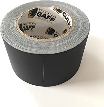Matte Finish Black Main Stage Gaff Tape 4 inch by 30 Yards Gaffers Tape