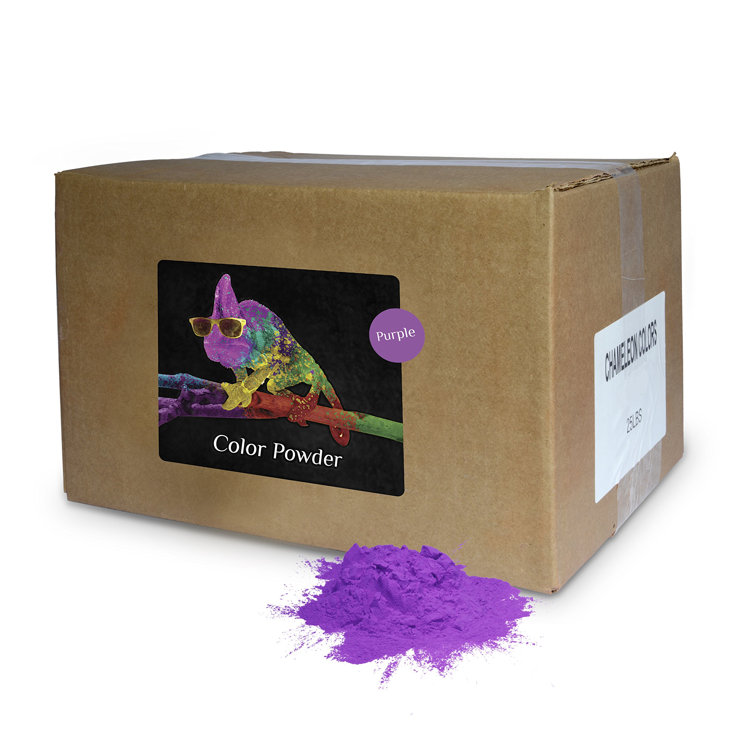 Holi Powder Bulk by Chameleon Colors - Purple - 25 lbs. Pure, Authentic Fun - Perfect for a Color Run, 5k, Festival, Party or Any Other Event You Want to Make Colorful.