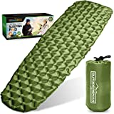Outdoorsman Lab Sleeping Pad for Camping - Patented Camp Mat, Ultralight - Best Compact Inflatable Air Mattress for Adults &