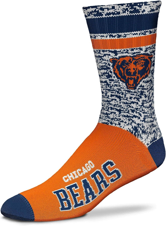 Medium /& Large Available For Bare Feet NFL Retro Deuce Crew Socks