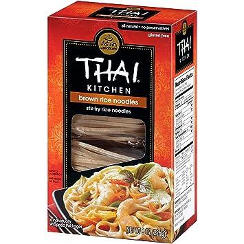 amazon com thai kitchen gluten free brown rice noodles 8 oz rh amazon com thai kitchen thin rice noodles recipes thai kitchen rice noodles nutrition