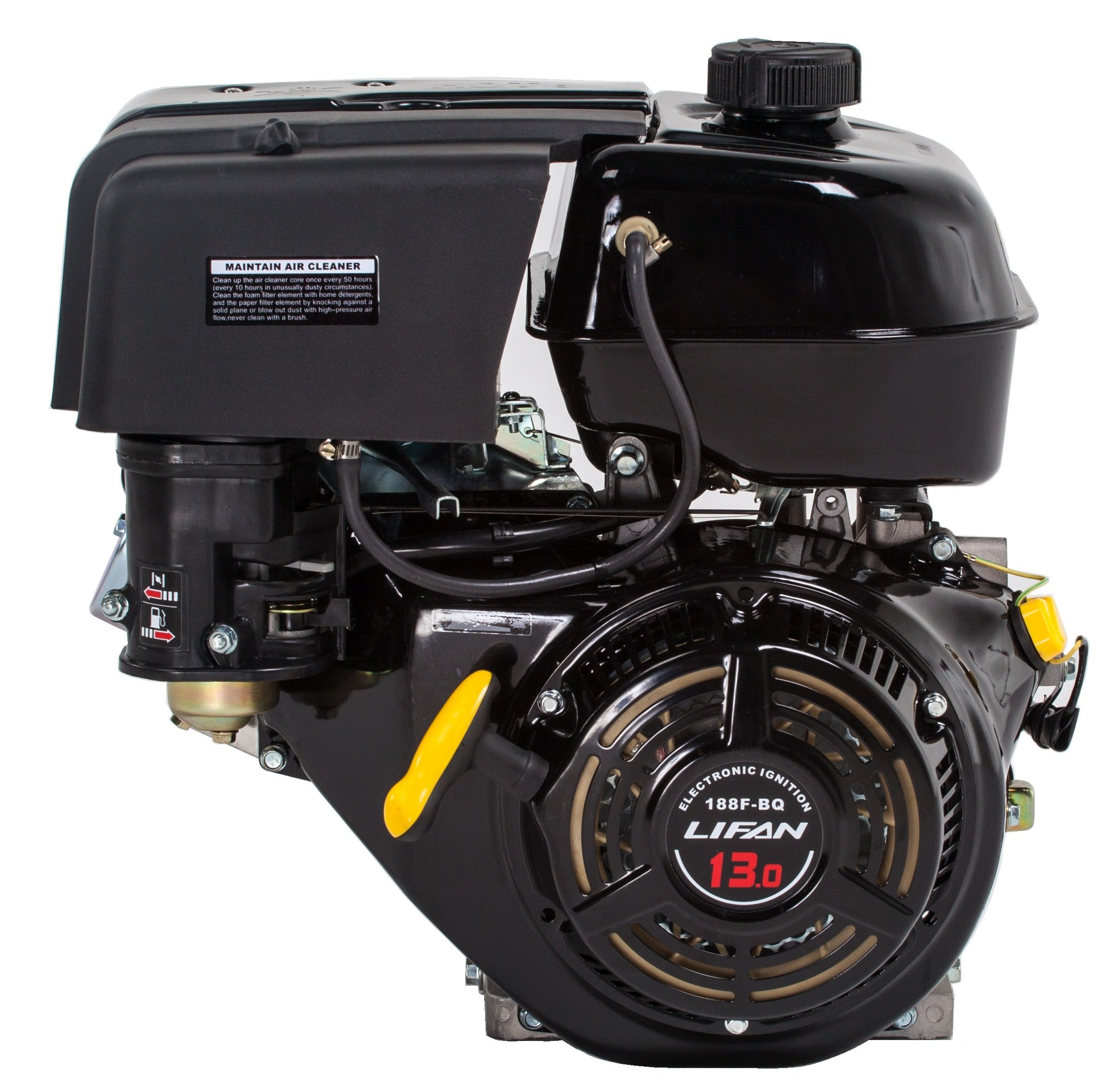 Lifan LF188F-BQ 13 HP 389cc 4-Stroke OHV Industrial Grade Gas Engine with Recoil Start and Universal Mounting Pattern by Lifan