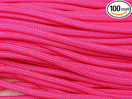 Paracord 550 Parachute Cord 7 Strand ... 100FT Type III Viper Neon Green//Black