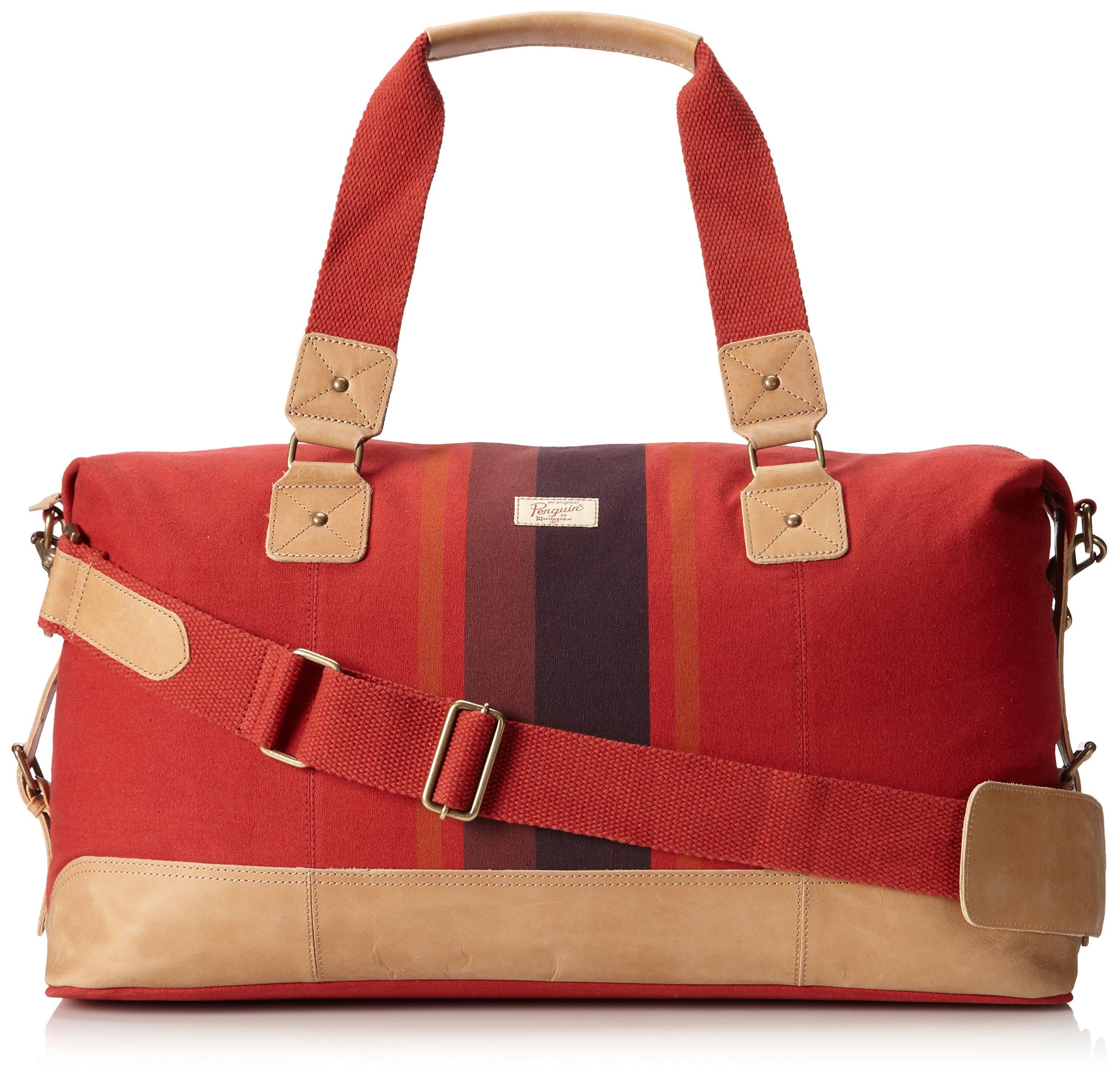 Original Penguin Men's Canvas Weekend Bag Duffel Bag, Pompeian Red, One Size by Original Penguin (Image #1)