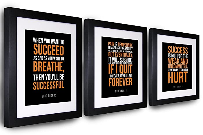 Motivational Wall Decor Eric Thomas Quote Wall Art | Inspirational Wall Decor | Office Decorations |  sc 1 st  Amazon.com & Amazon.com: Motivational Wall Decor Eric Thomas Quote Wall Art ...