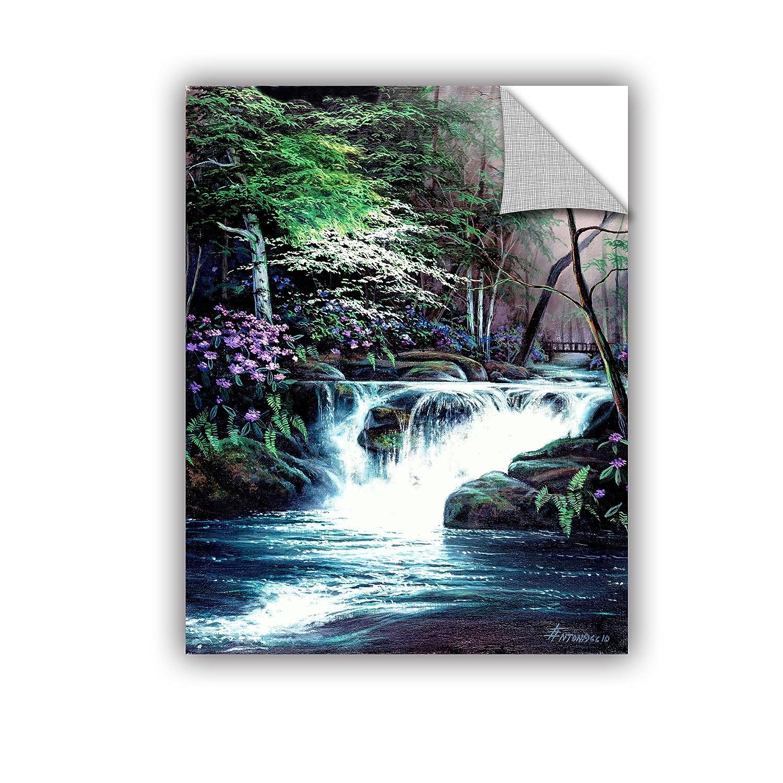 24X32 Egidio Antonaccio Bridge Falls Gallery Wrapped Canvas
