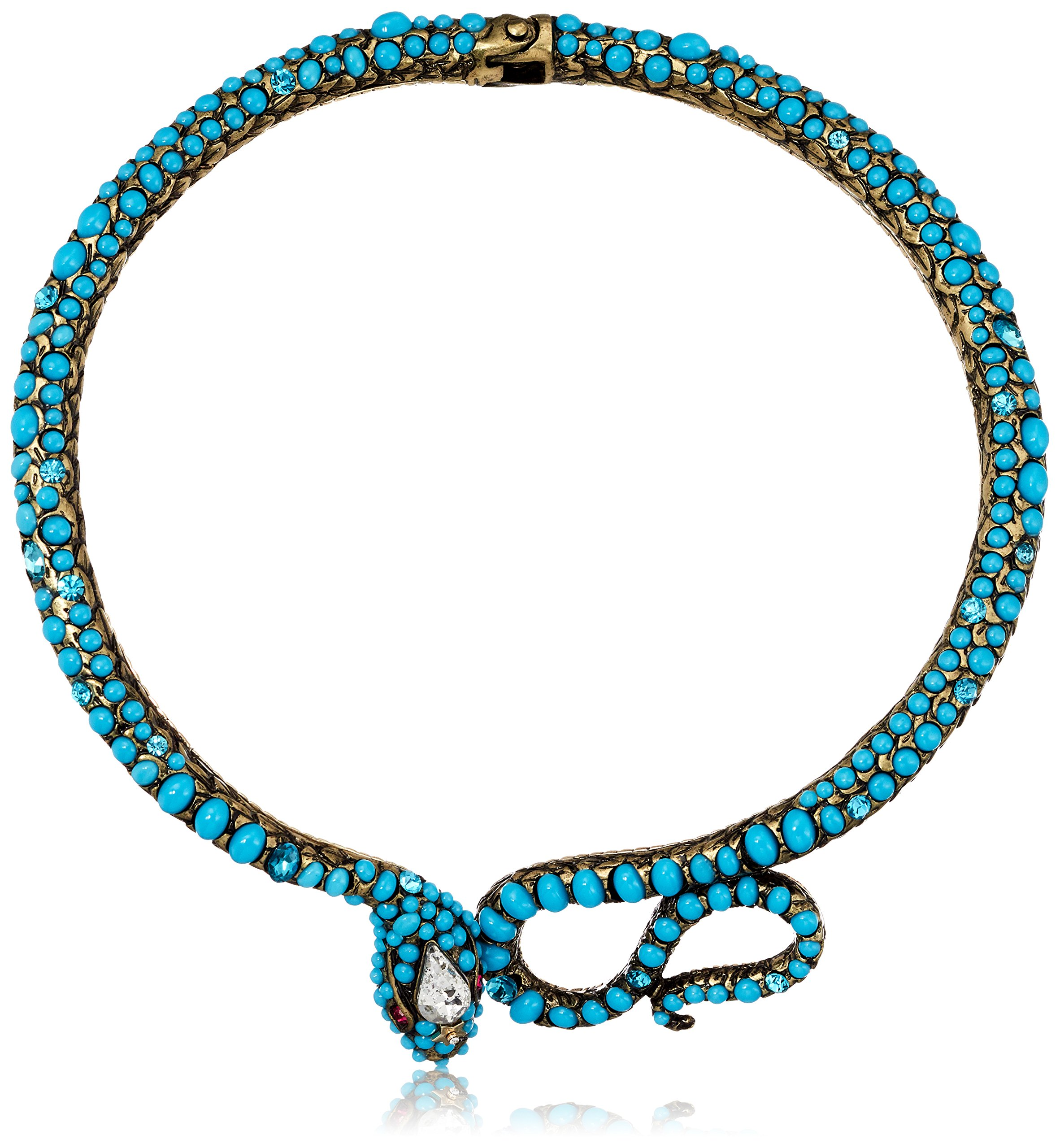 Betsey Johnson Mystic Baroque Queens Turquoise Snake Collar Choker Necklace