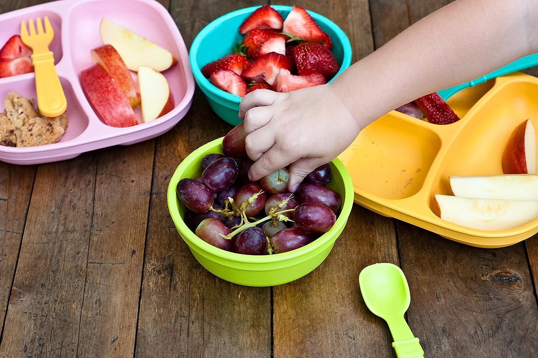 nachhaltig durch Recyclingmaterial Spring 4X L/öffel und 4X Gabel BPA-frei Kinder Besteckset Re-Play
