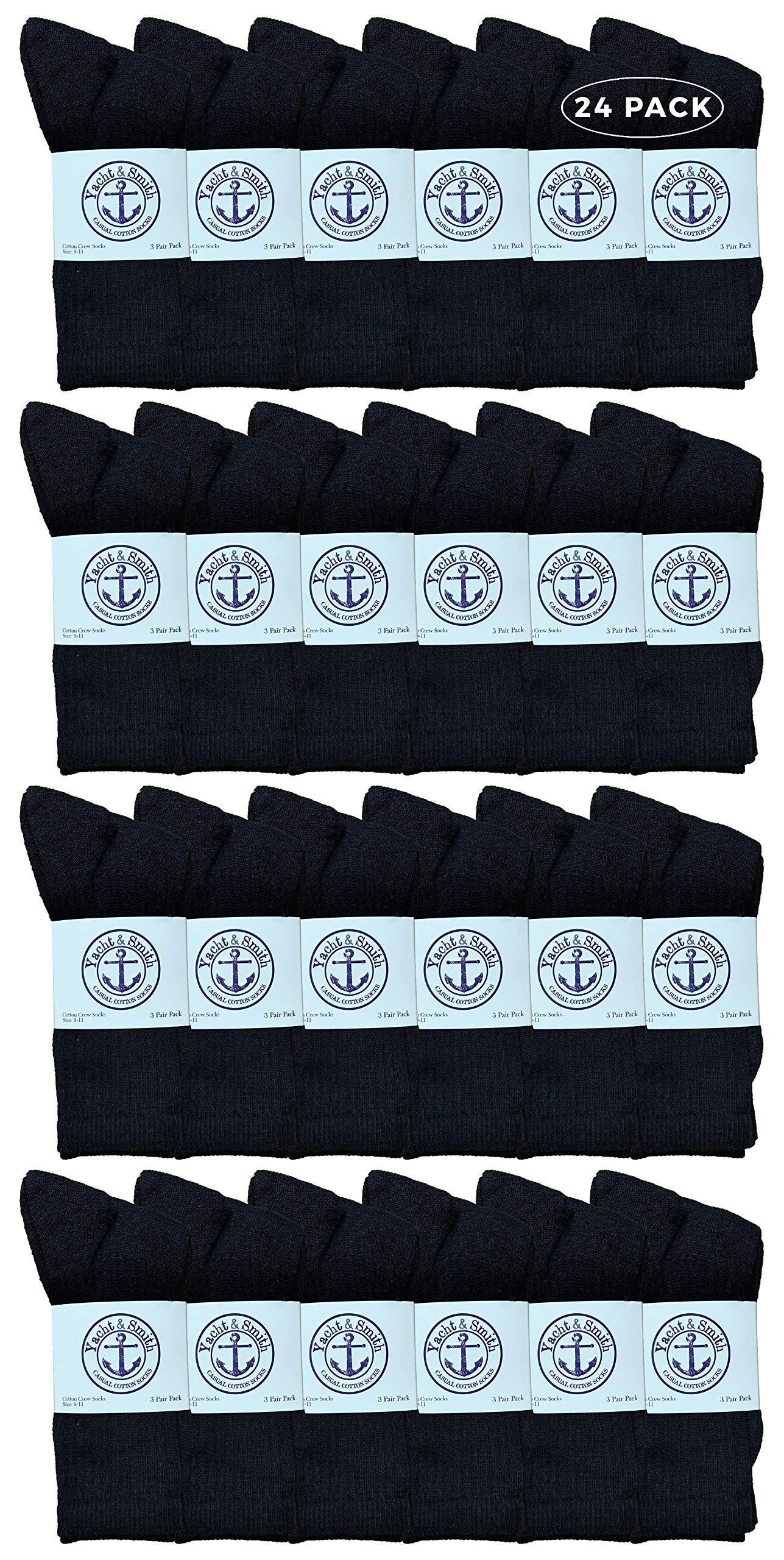 Yacht & Smith Wholesale Bulk Womens Crew Socks, Cotton Sport Athletic Socks - Size 9-22 by Yacht & Smith