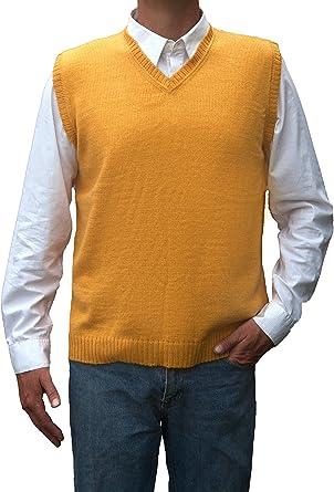 TINKUY Peru Peruvian Alpaca Wool Vest for Men Basic V