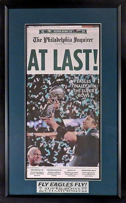 "Amazon.com: Philadelphia Eagles ""Super Bowl LII Champion"" Newspaper ..."