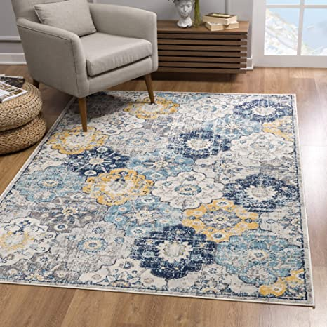 Rug Branch Savannah Modern Area Rug 2x4 Feet Abstract 2 3 X 3 7 Blue Amazon Ca Home Kitchen